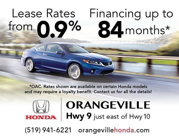 New finance specials orangeville honda for Honda finance deals