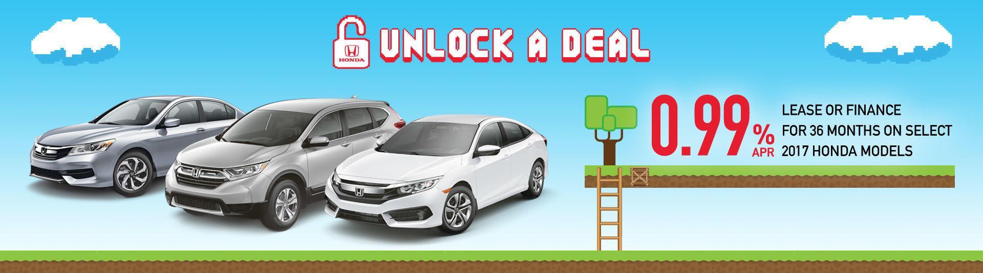 Honda Unlock A Deal Promotion