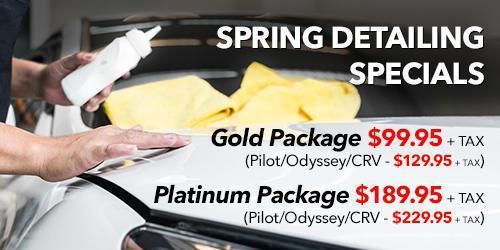 Spring Detailing Specials