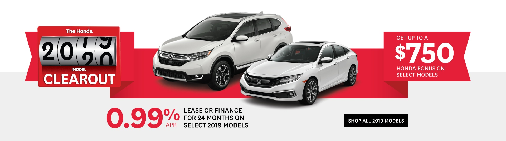 Orangeville Honda 2019 Model Clearout