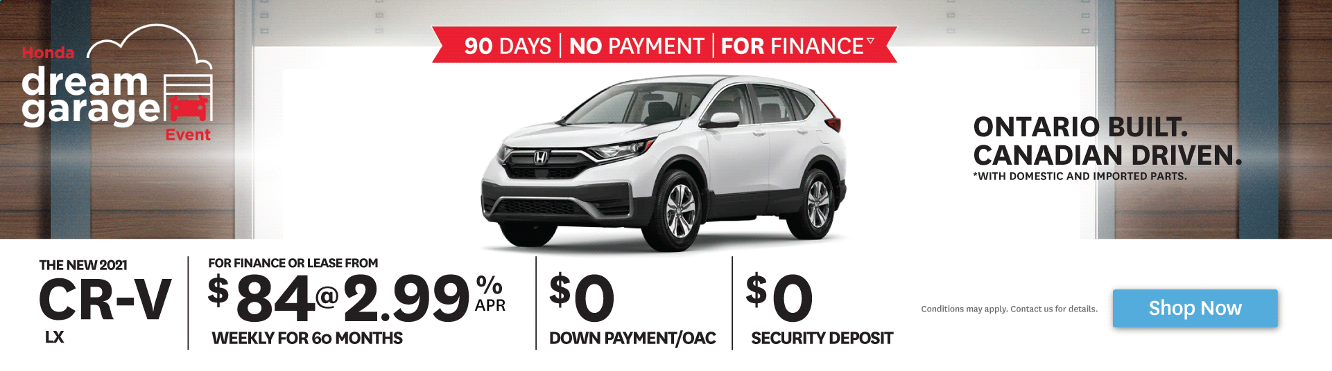2021 CR-V - 90 Days - No Payment - For Finance