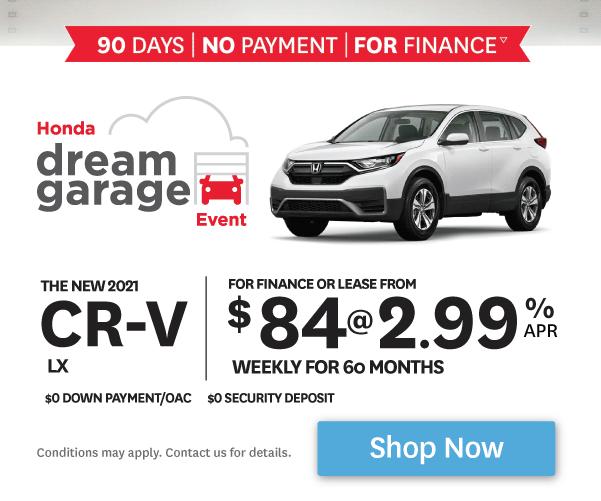 2021 Honda CR-V - 90 days- No Payment - For Finance