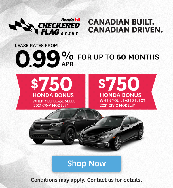 Orangeville Honda Checkered Flag Event  Offer