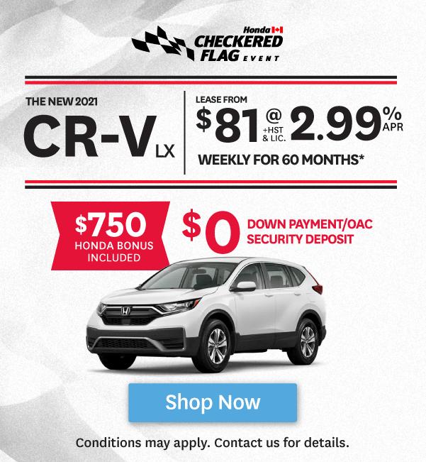 Orangeville Honda Checkered Flag Event CR-V Offer