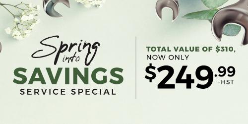 Spring Saving Service Special