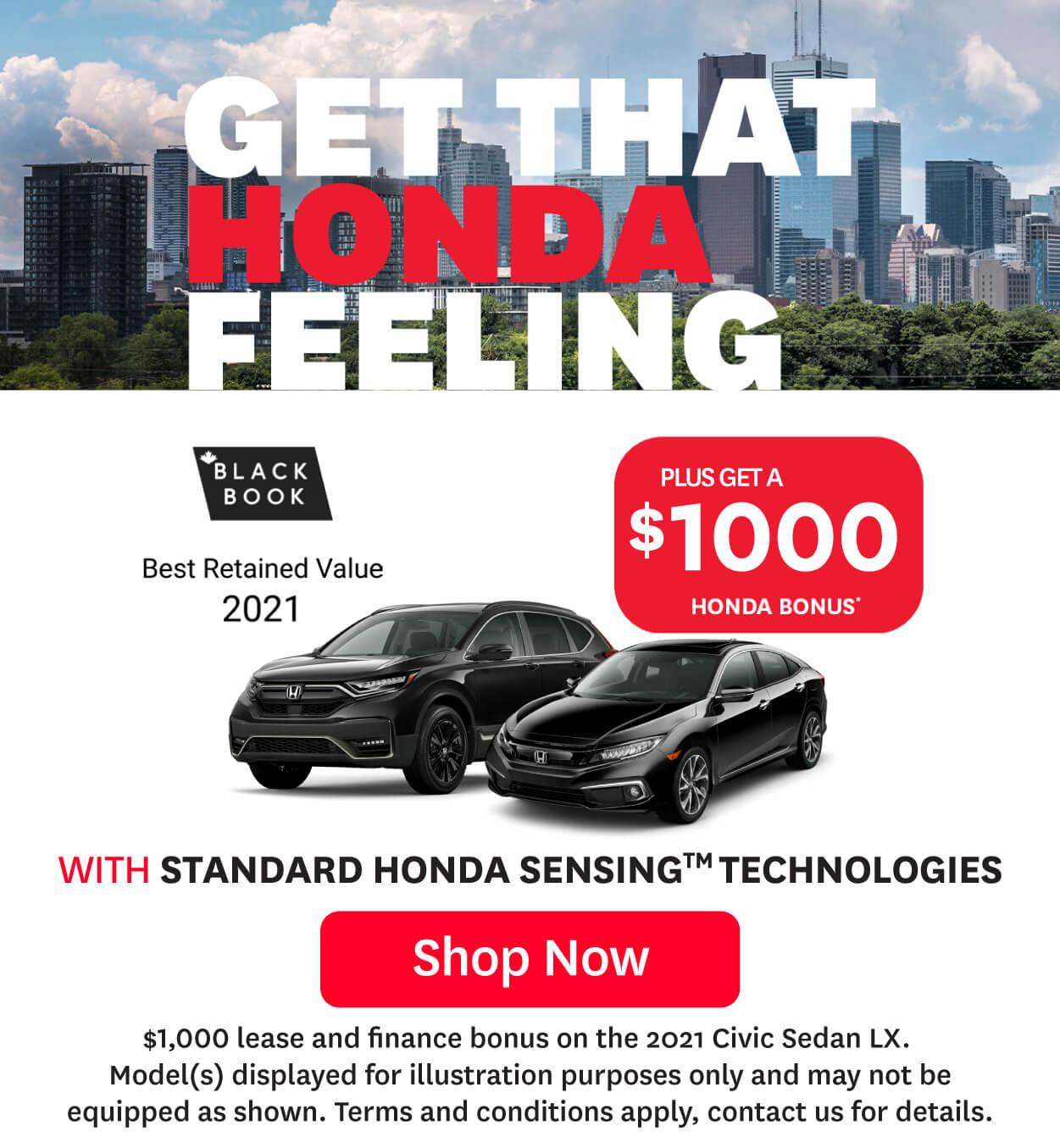 Orangeville Honda That Honda Feeling June Offer Generic Promo