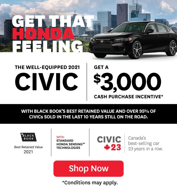 2021 Honda Civic Offer in Orangeville