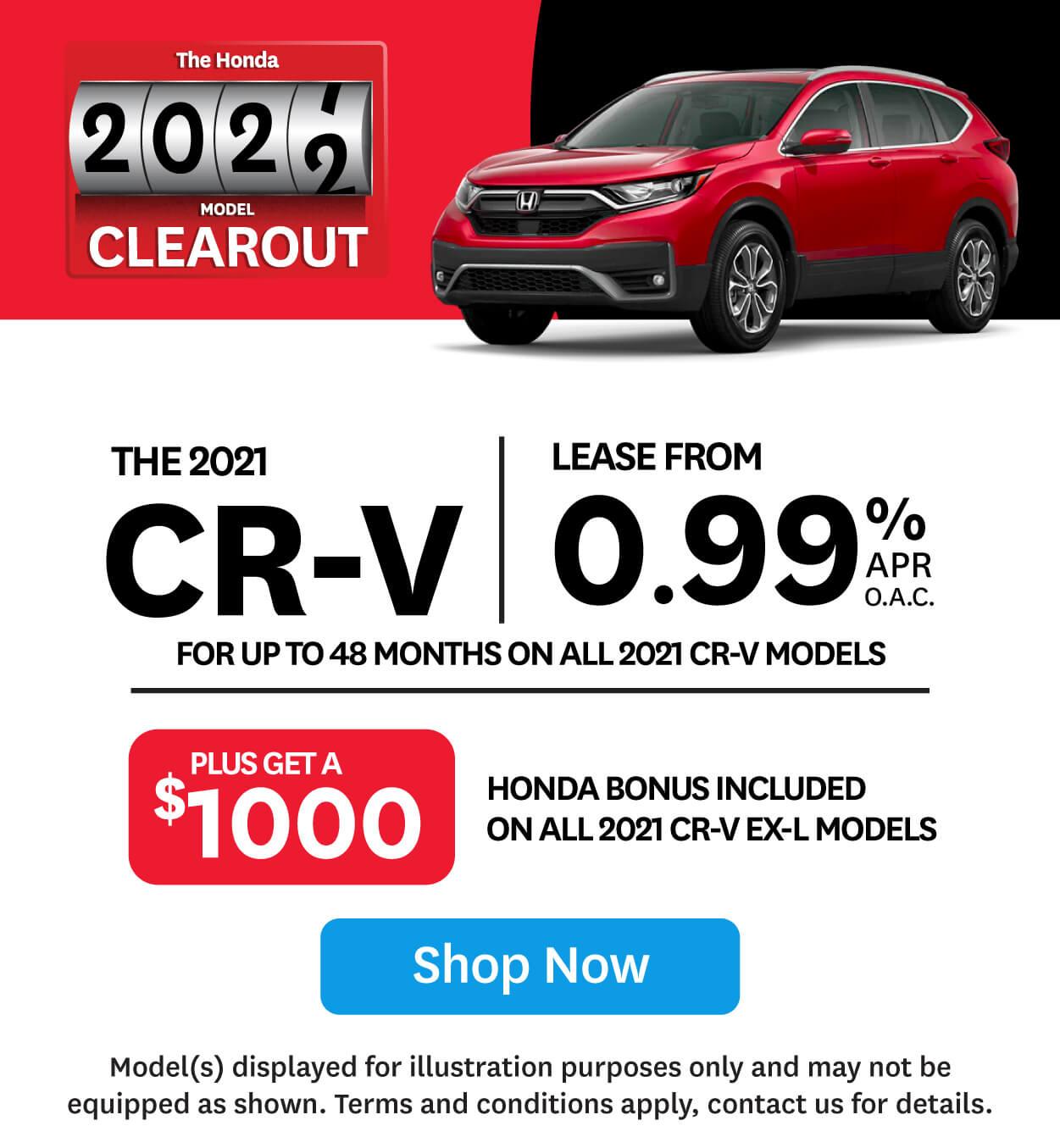 Orangeville Honda CR-V 2021 Clearout