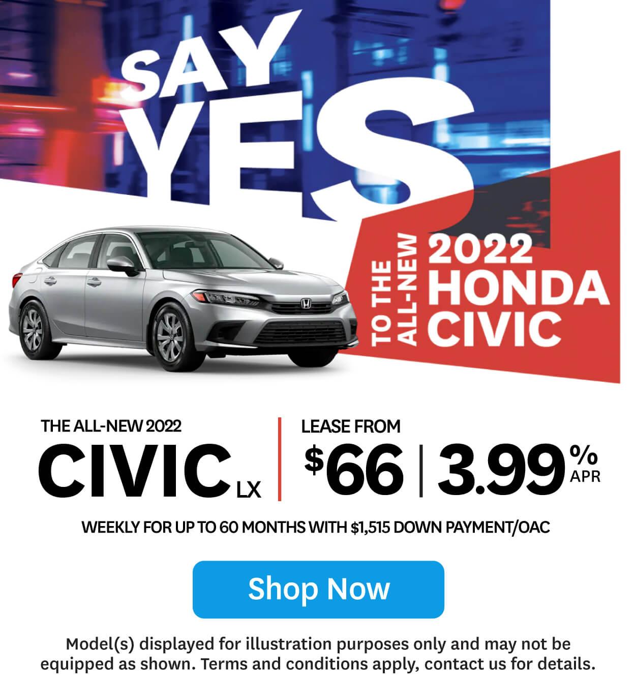 Orangeville Honda Civic LX 2021 Clearout